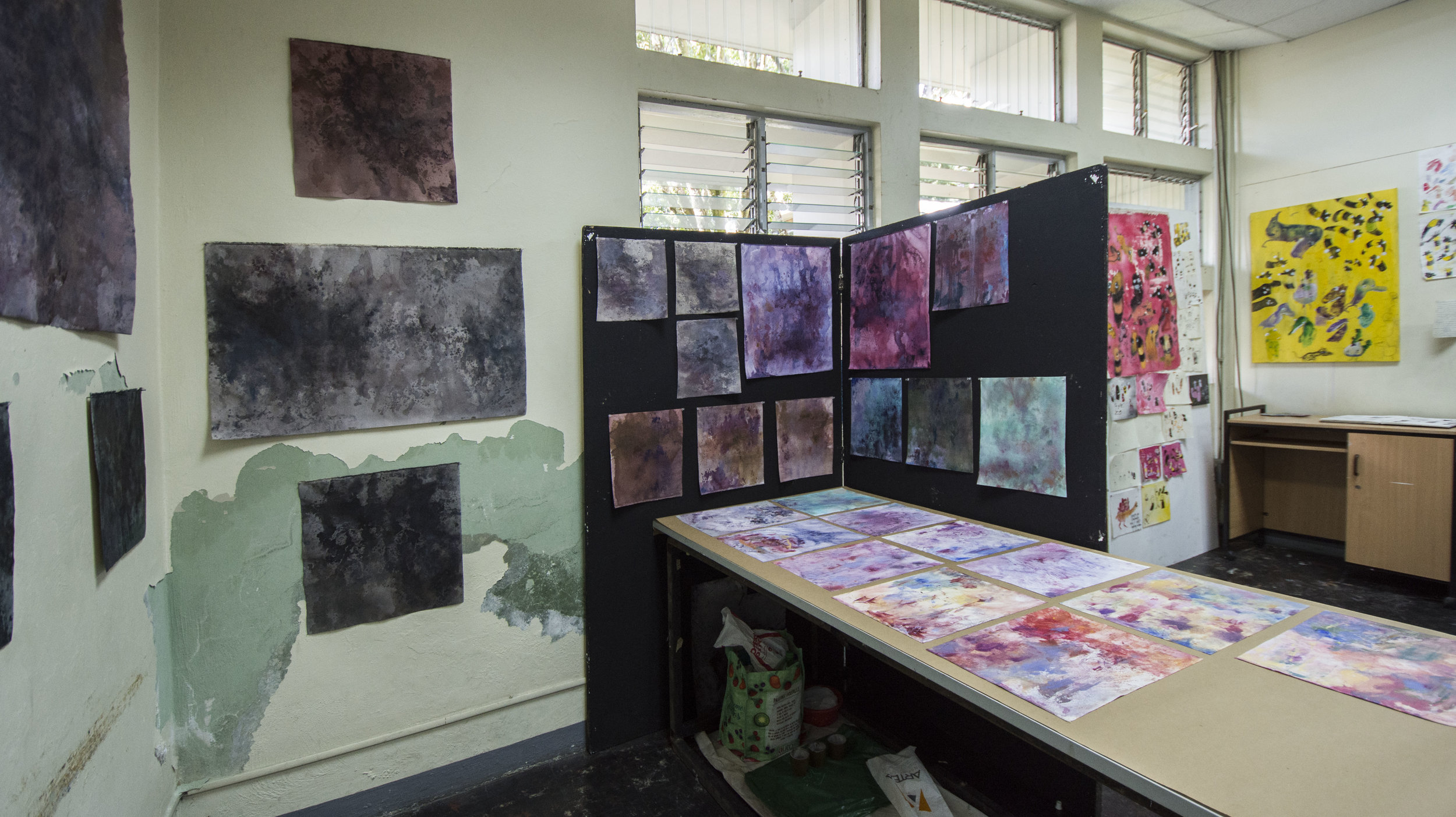 espacios de trabajo de izquierda a derecha: marco sanabria y    karina torres      imagen cortesía de    adriana araya