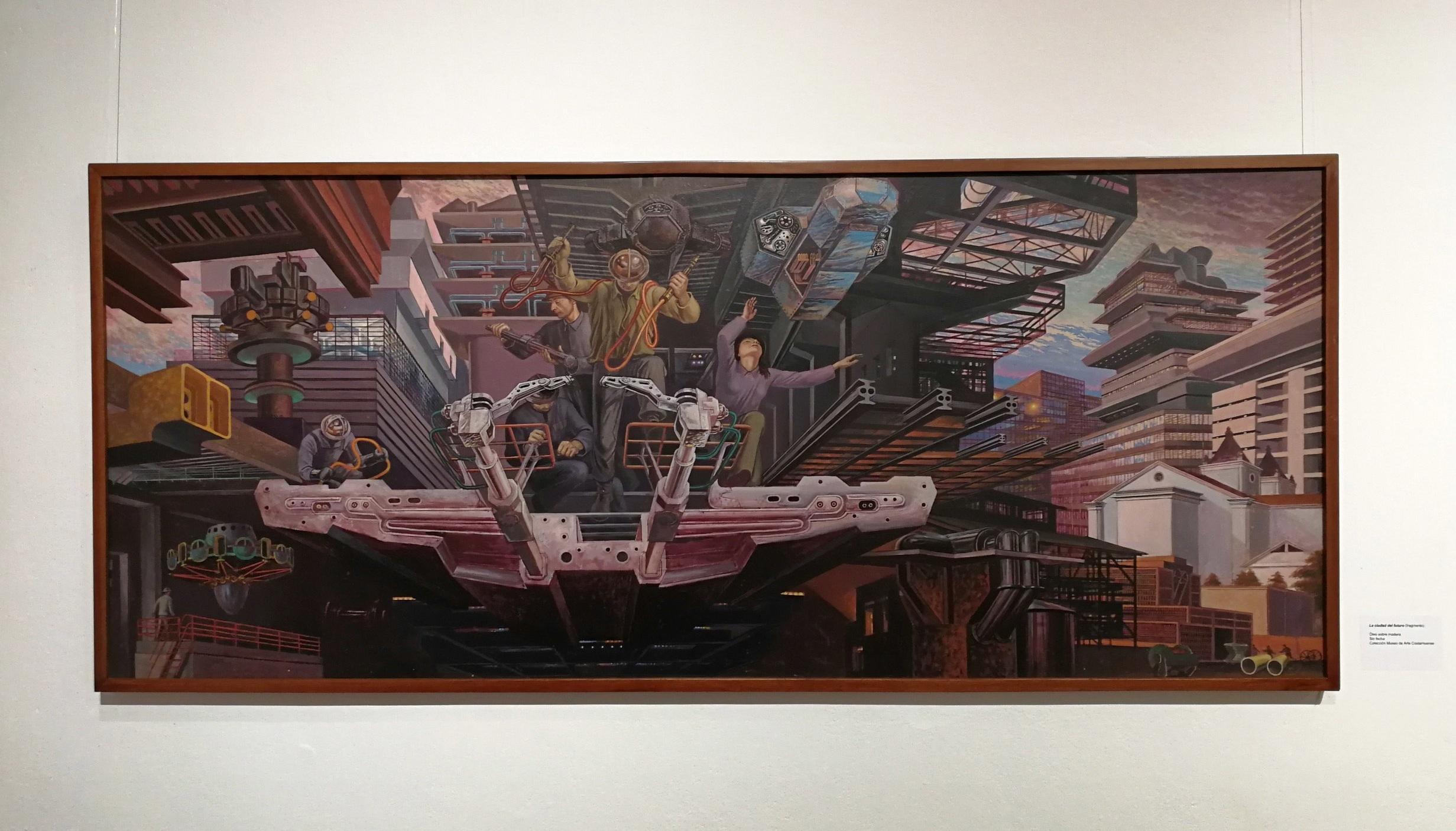 obra de julio escámez, imagen tomada durante la exposición de julio escámez en el MAC, 2018