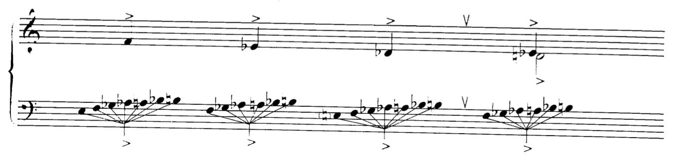 """Ustvolskaya, """"Sonata No. 6"""""""