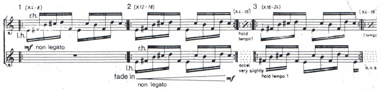 """Reich,""""Piano Phase"""""""