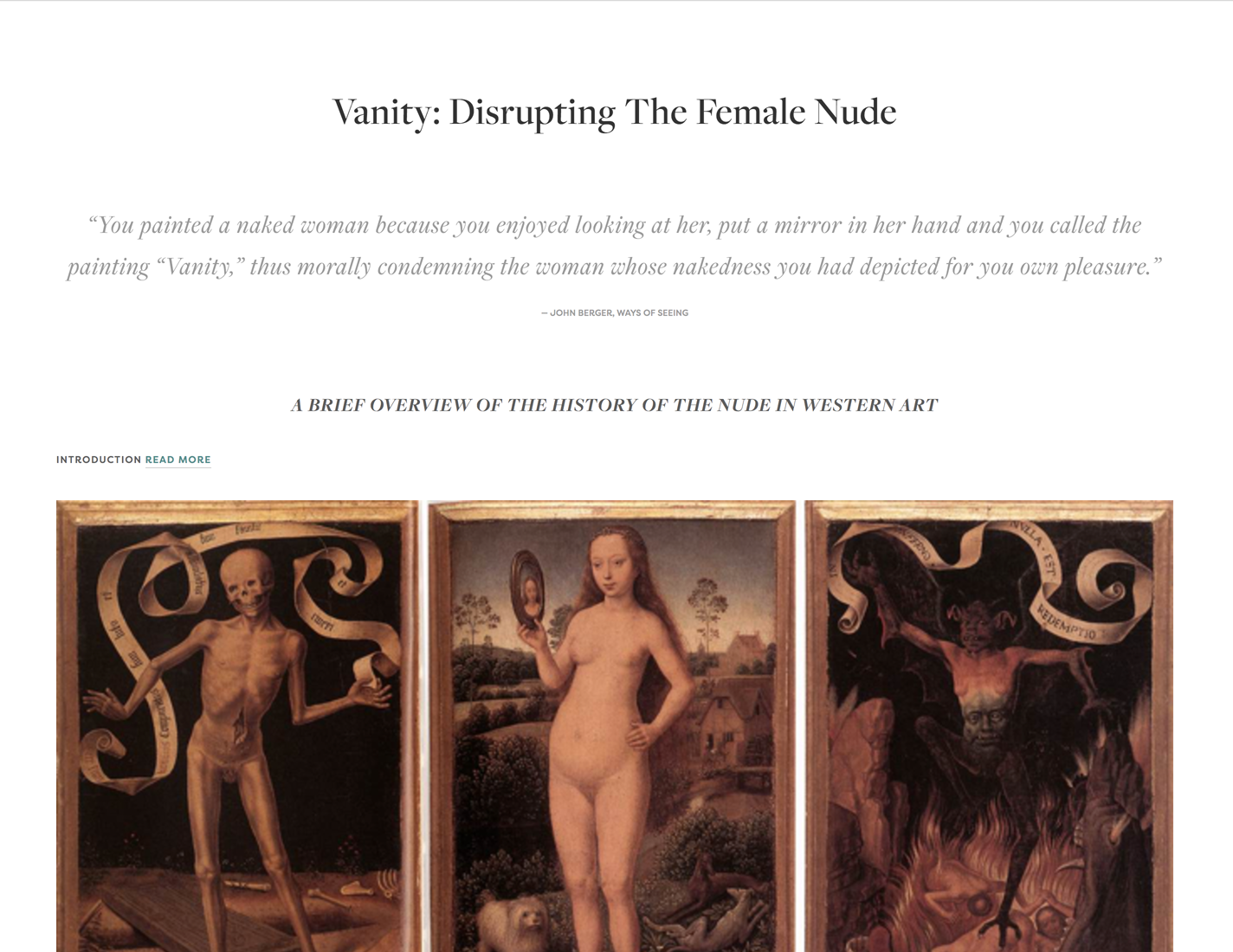 Vanity: Disrupting the Female Nude