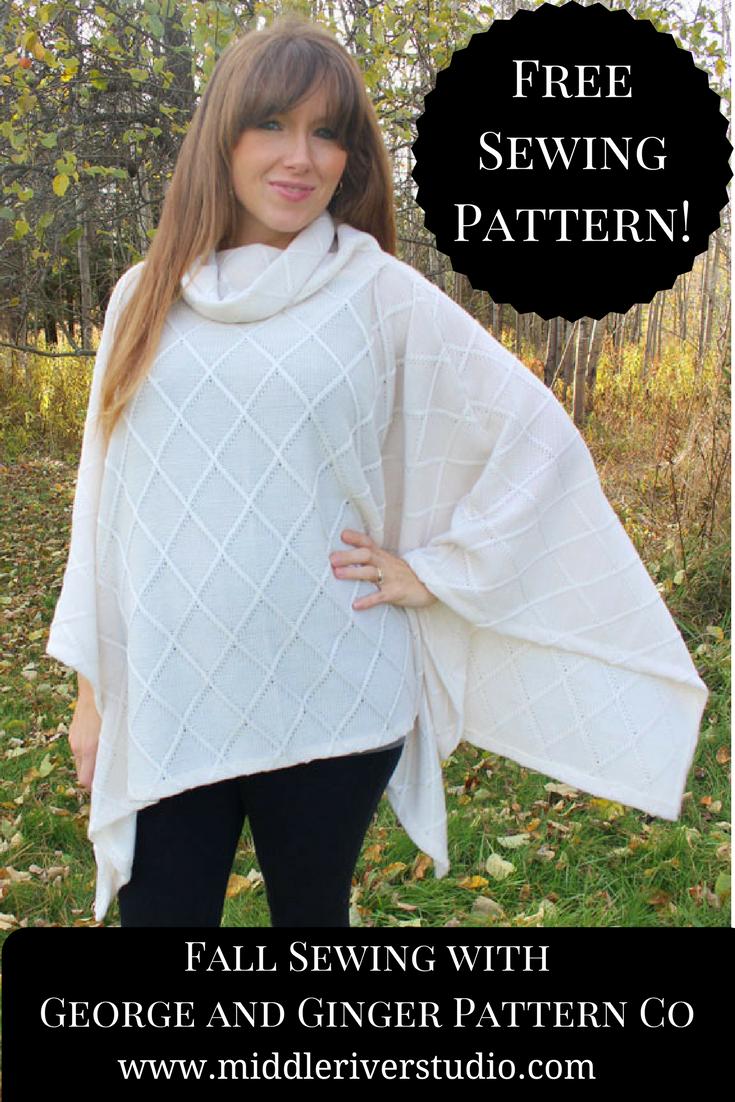 free sewing pattern poncho