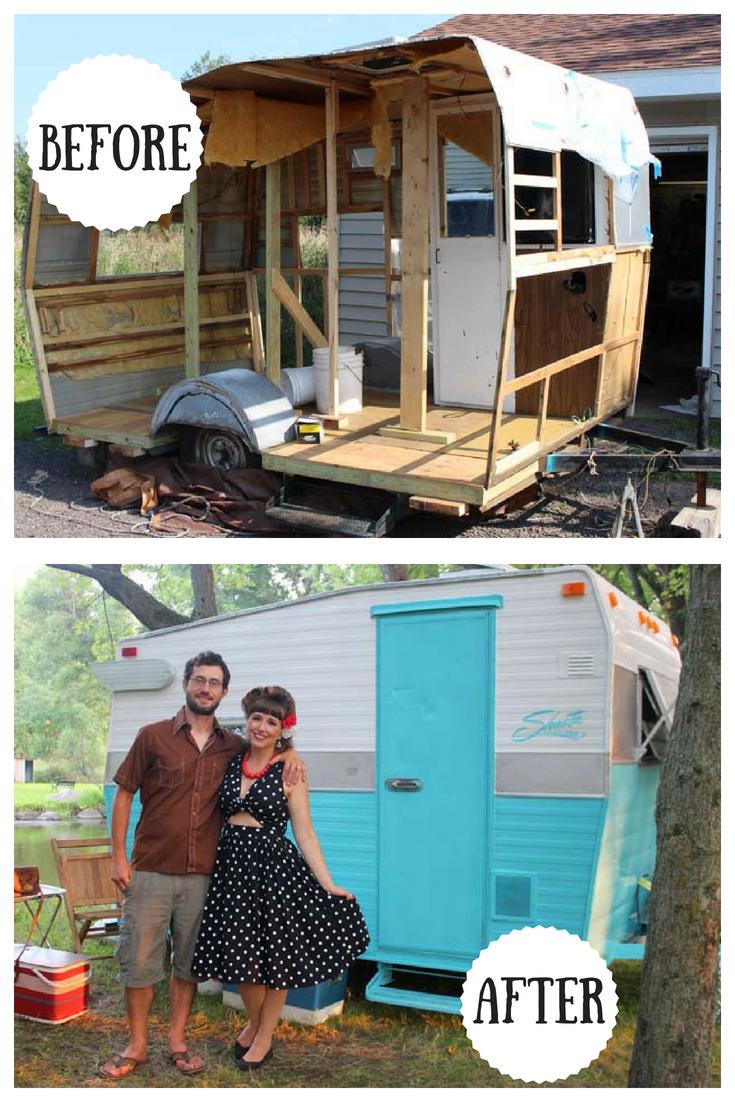 1972 Shasta Compact Camper Renovation, Vintage Travel Trailer Restoration, Vintage Camper (4).jpg