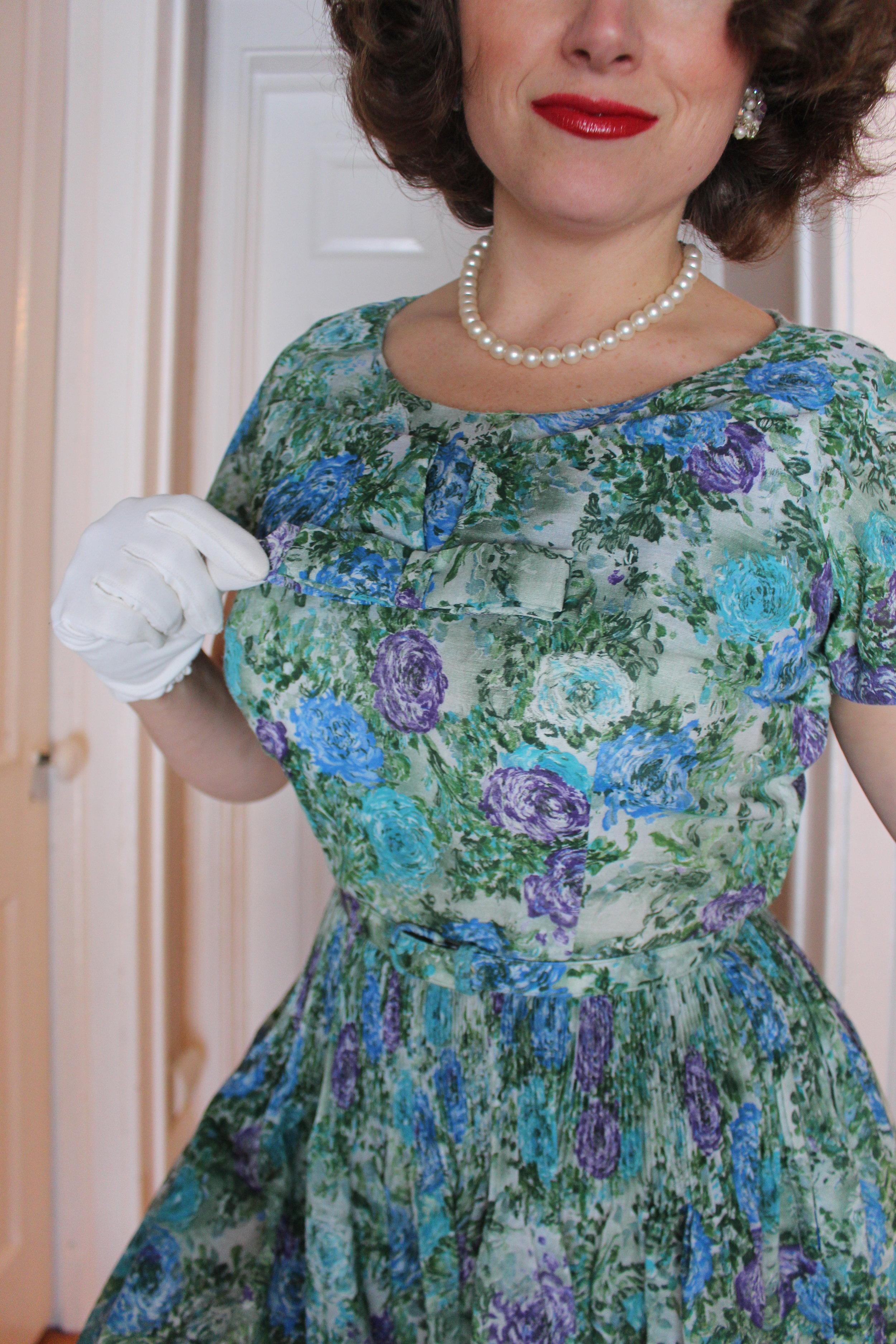 leslie fay dress vintage 1950s.JPG