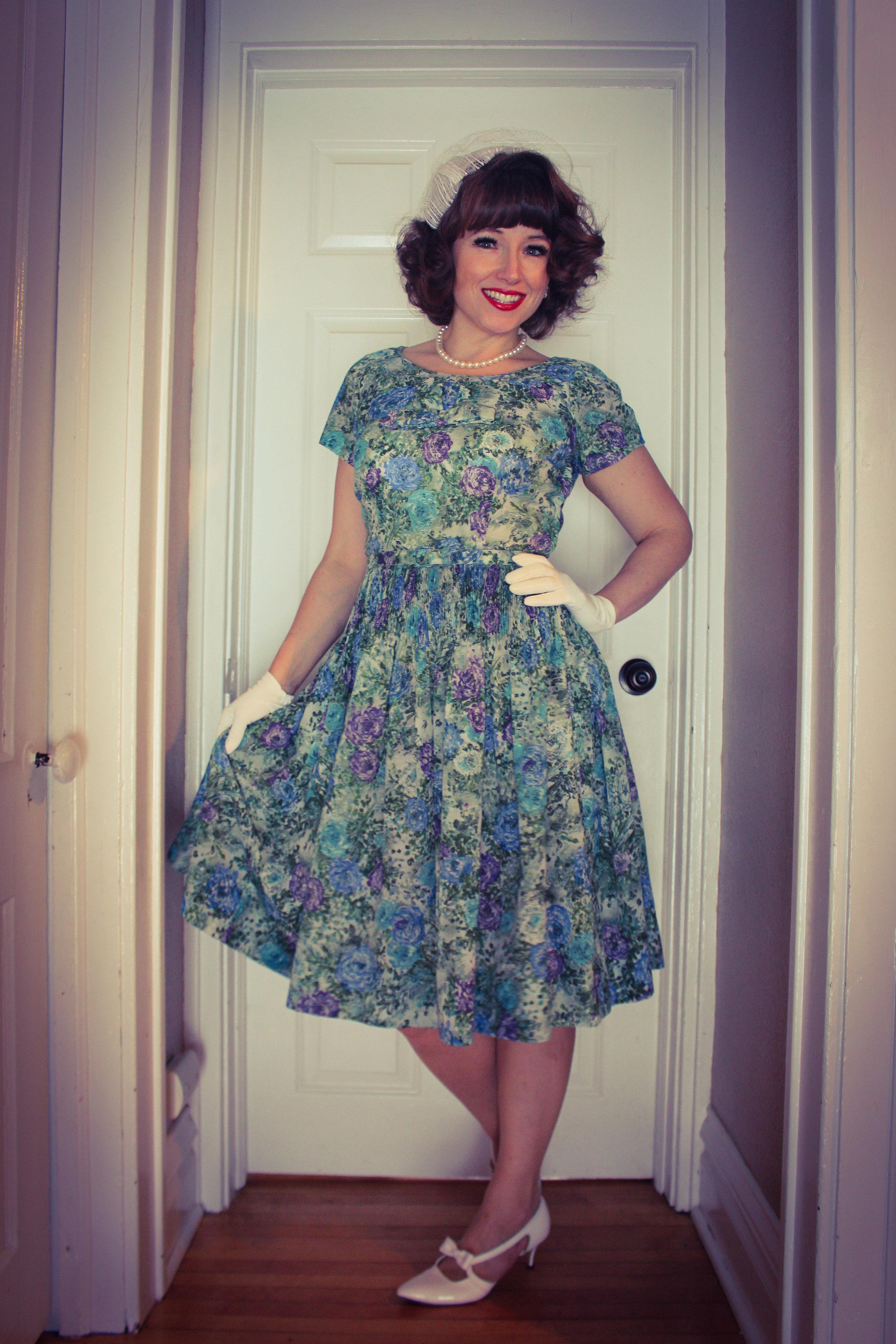 vintage 1950s dress Leslie Fay