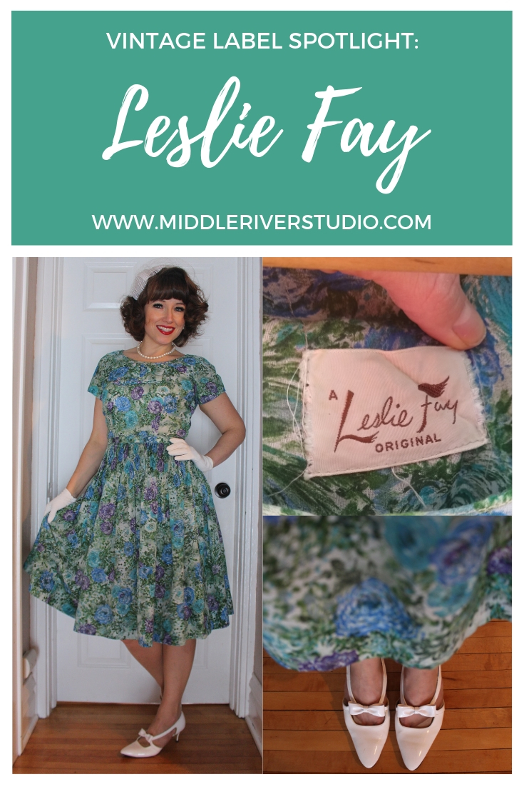 vintage 1950s dress leslie fay.jpg