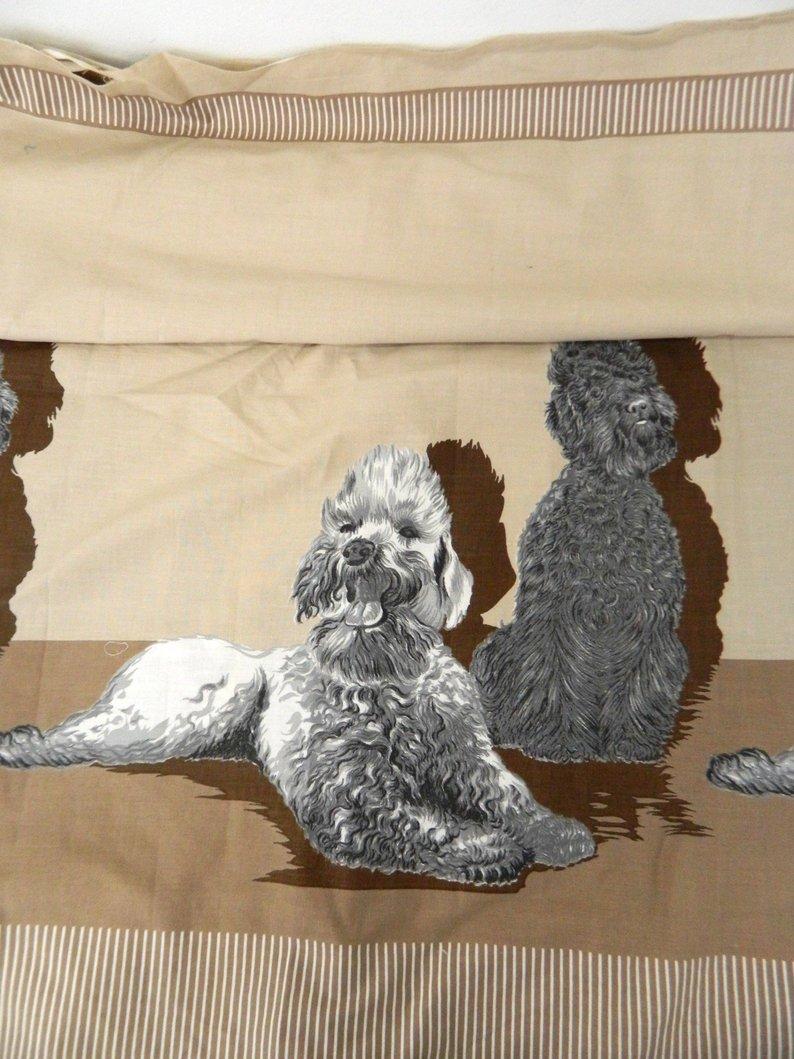 John Wolf border print poodles