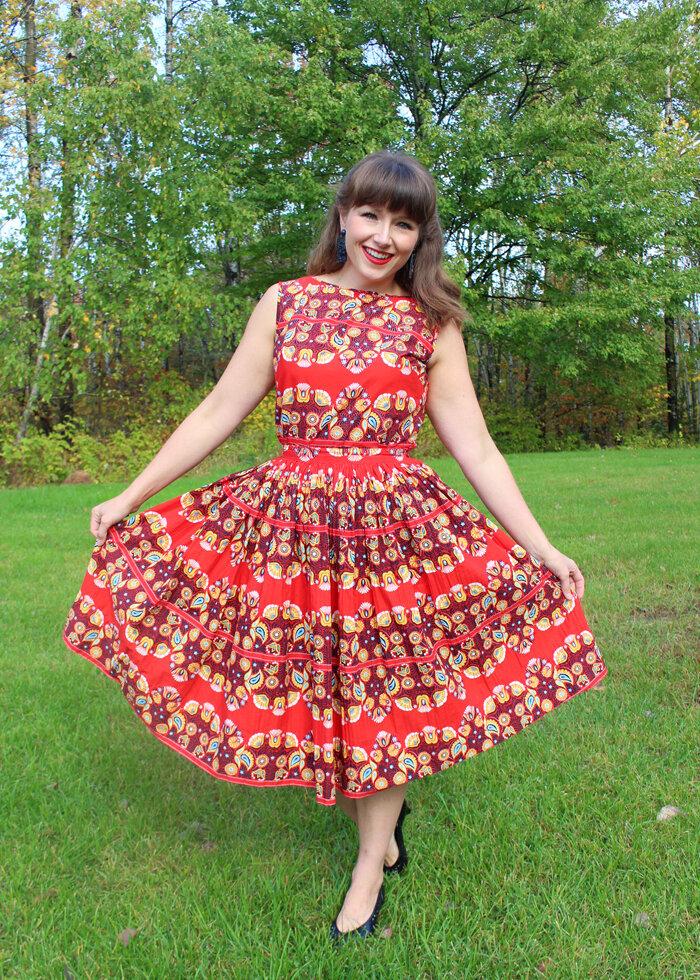 Koret of California vintage skirt set