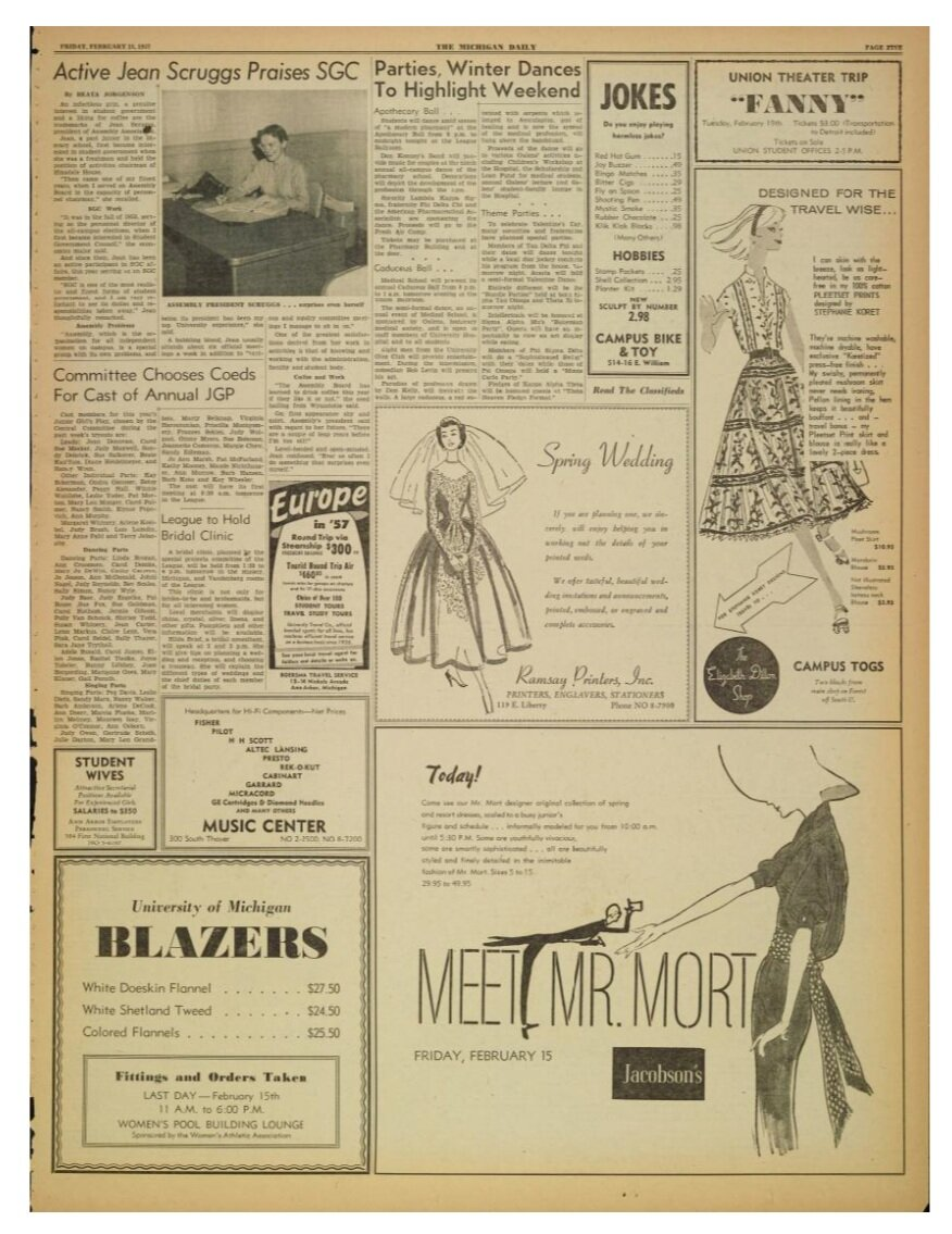 Michigan+Daily+1957+ad+for+Mr+Mort+and+Koret+of+California
