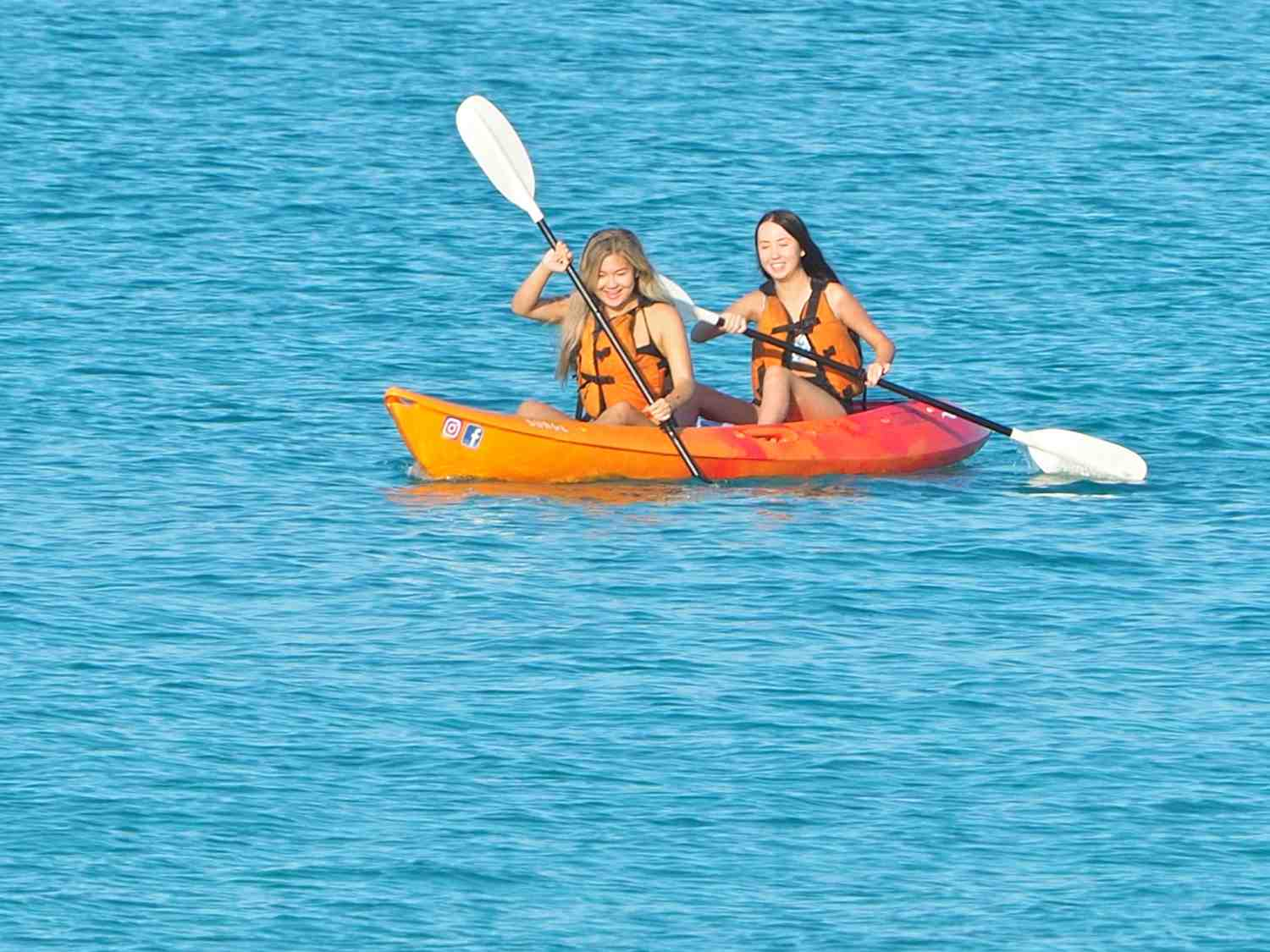 Double kayak tours are a great for bonding and a great team building exercise for corporate functions.