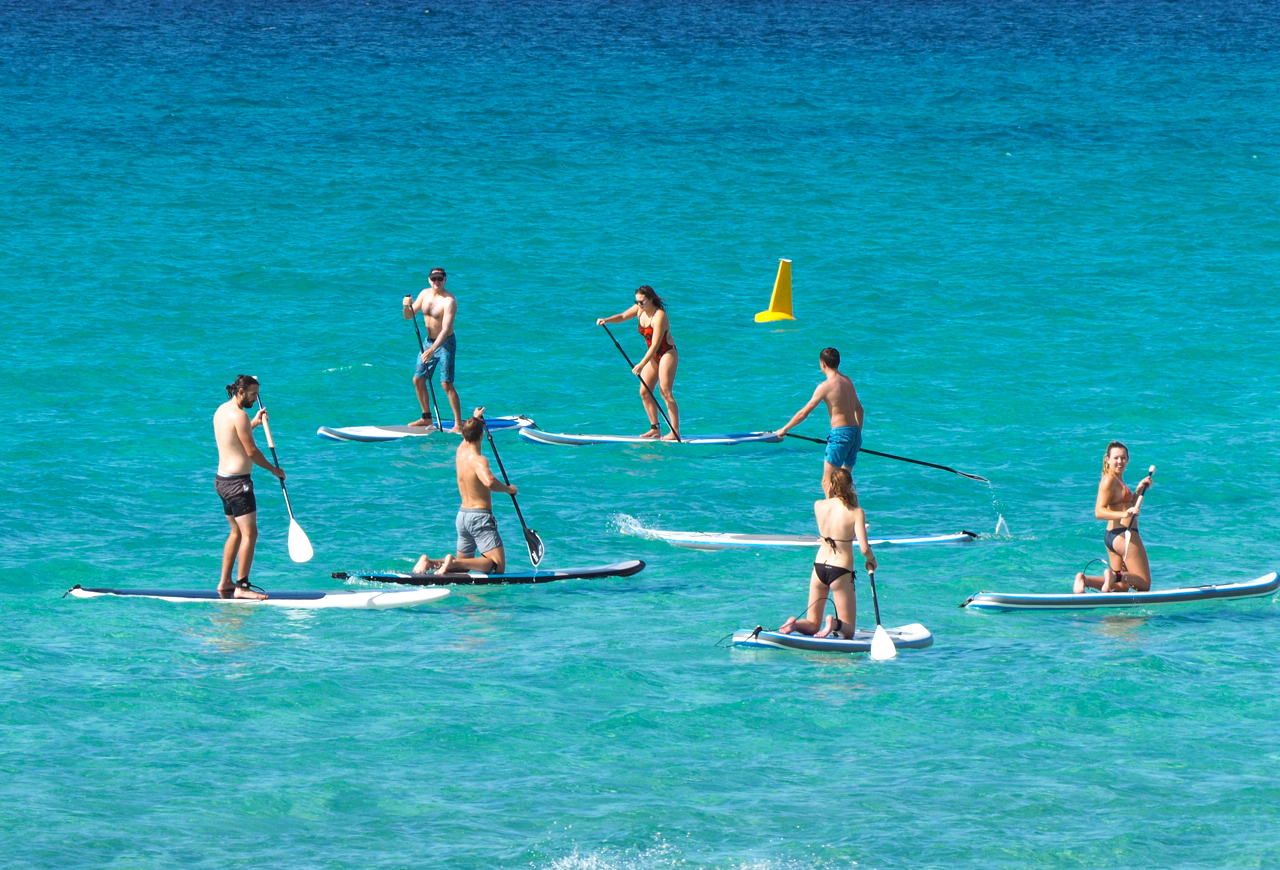 SUP Group lessons. Learn off us and laugh as a group.