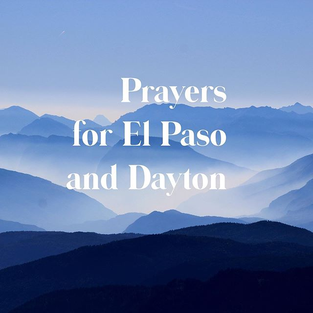 No words.  #prayforelpaso #prayfordayton #prayforamerica