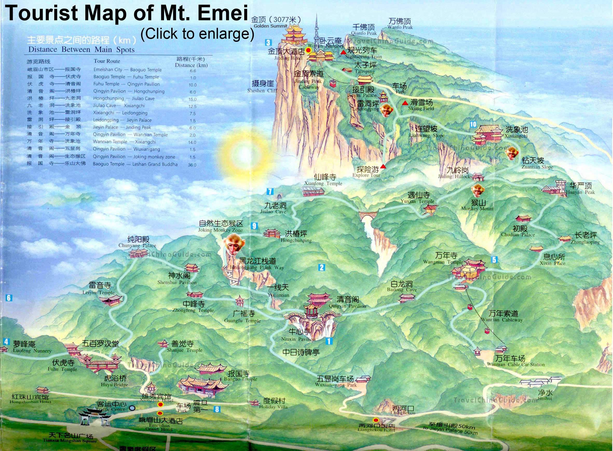 Mapa Emeishan i kilka słów o regionie:  https://www.travelchinaguide.com/attraction/sichuan/leshan/mt_emei.htm