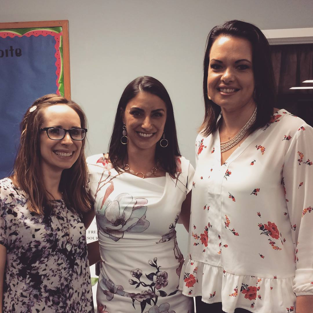 From left to right: Caitlin Jane (recording artist), Melissa Weisenfels (MARKINC Executive Director), Marie Monville (wife of Amish schoolhouse shooter)