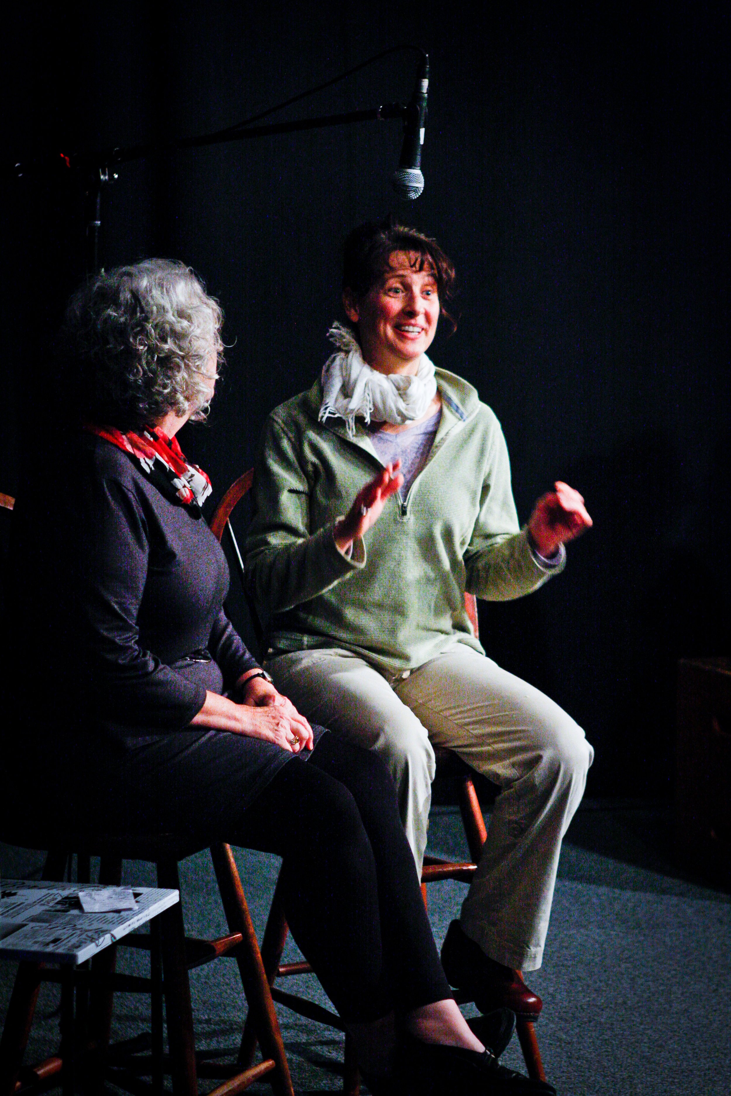An audience member tells Gracie her story