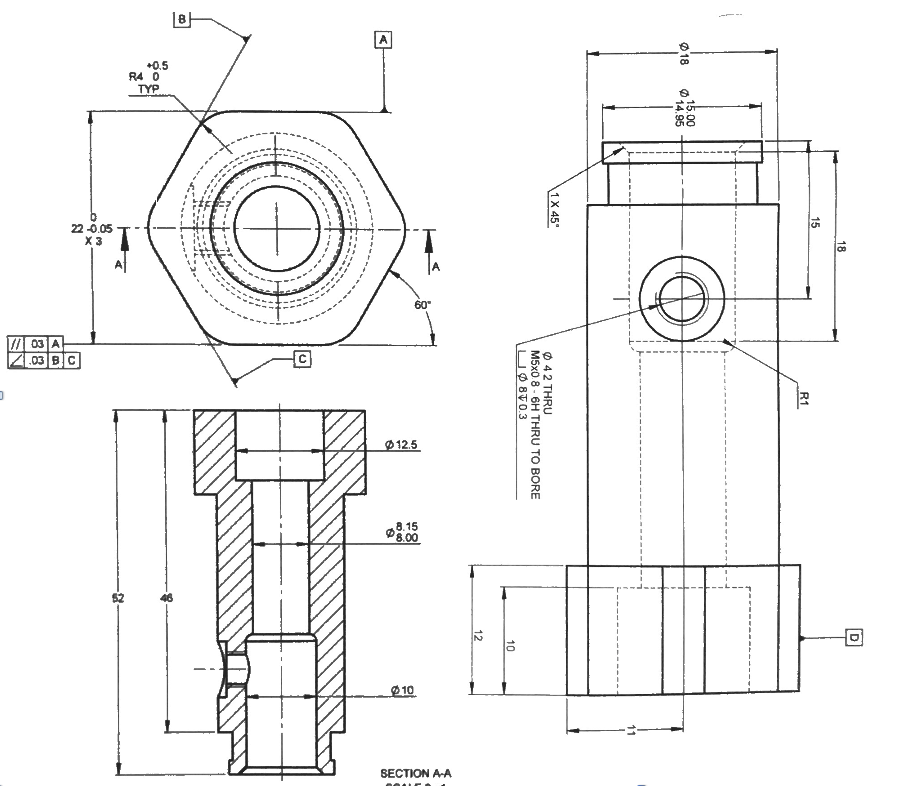 Engineering Detailing - Engineering drawings are a form of communication between you and whoever is going to make your parts. Here at 40 Form we pride ourselves in always providing you with professionally dimensioned drawings that meet the industry's standards for manufacturing