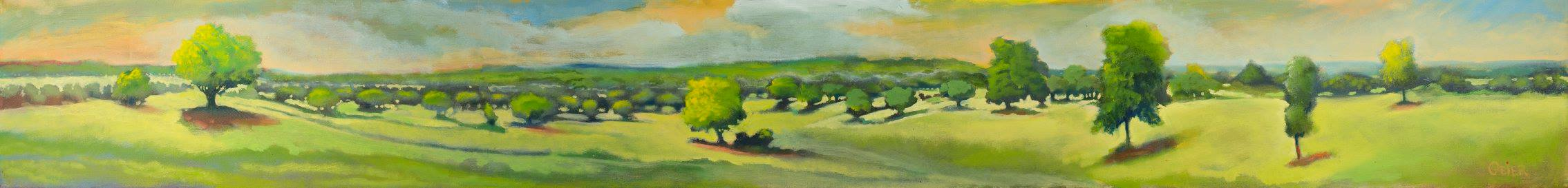 "Garey Ranch , 8""x60"", Oils, NFS, Giclee Only"