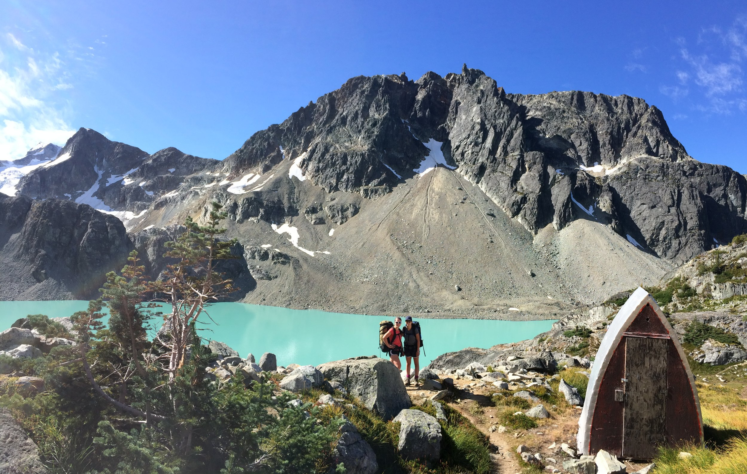 Here I am with my sister at Wedgemount Lake. Hiking is one of my favorite activities and has been since I was a kid!