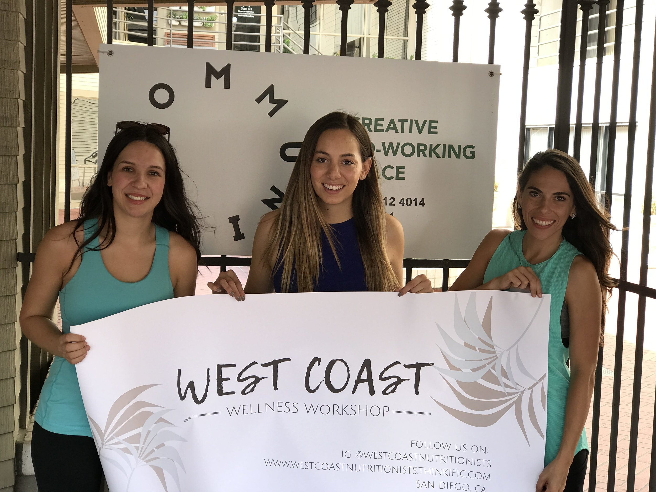 The three West Coast Nutritionists: Megan Lacoste, Marianna Meneses and Talita Barnaby