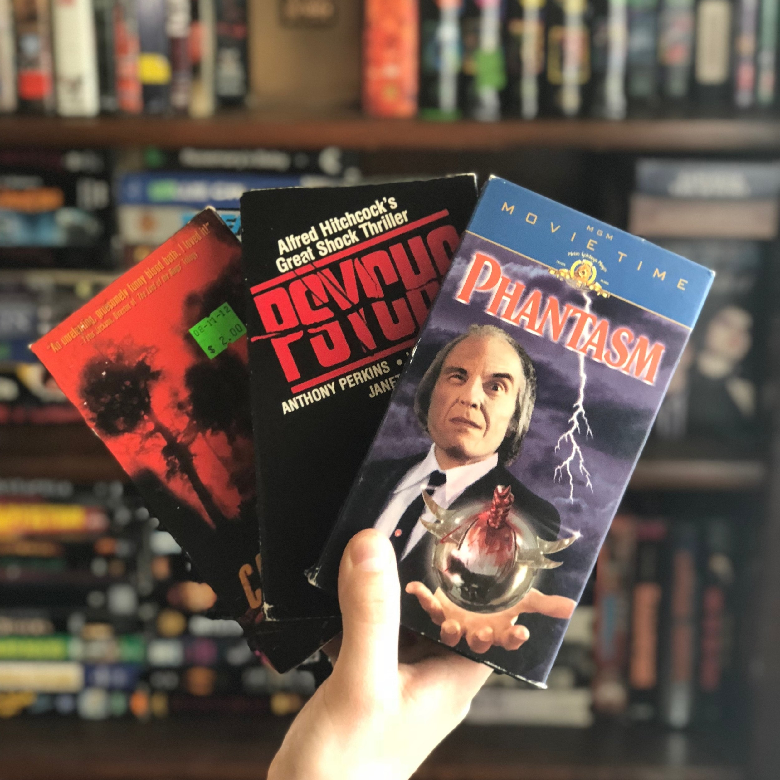 I collect classic horror and sci-fi VHS tapes. -
