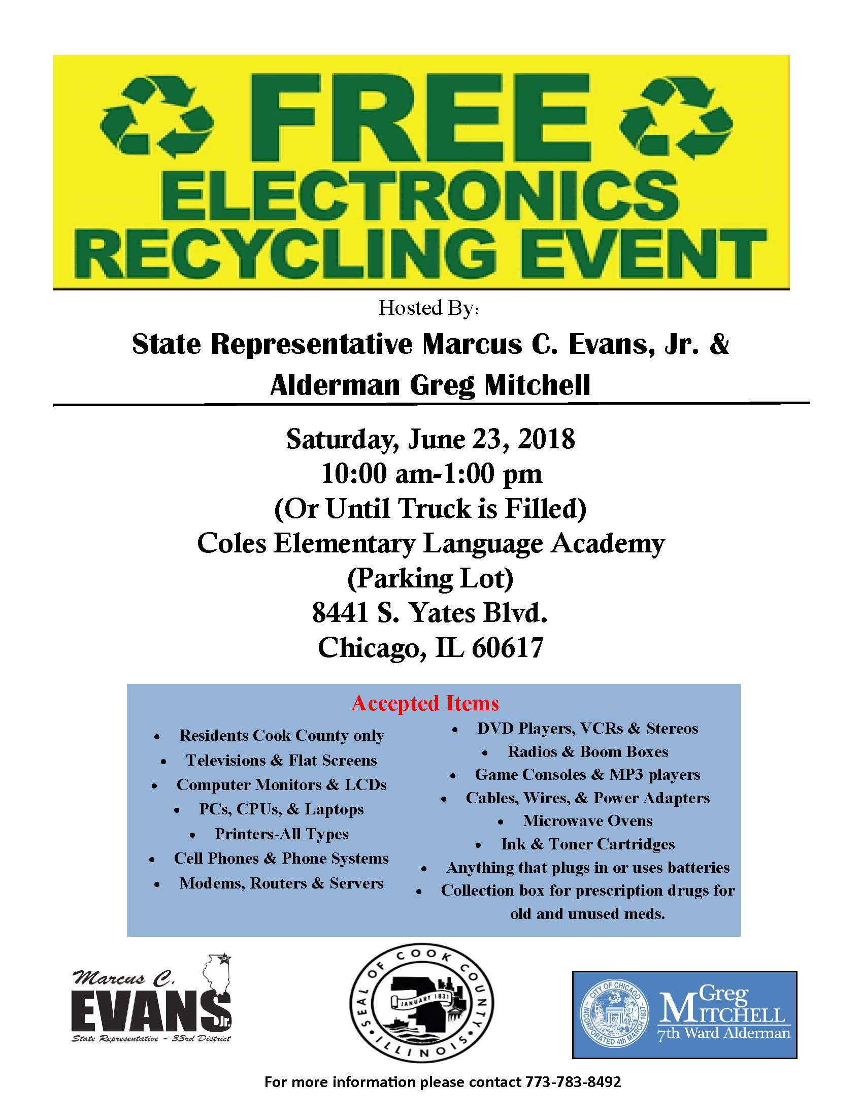 7th Ward Electronics Recycling Event