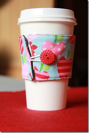 coffee cup sleeve - handmade christmas gift ideas