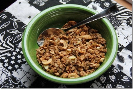 Peanut Butter Cashew Granola 2