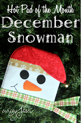 Hot Pad of the Month December Snowman