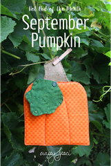 Hot Pad of the Month - September Pumpkin by Crafty Staci