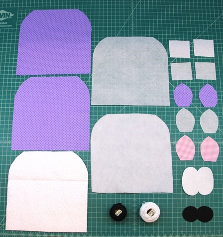 Pieces for Hippo hot pad