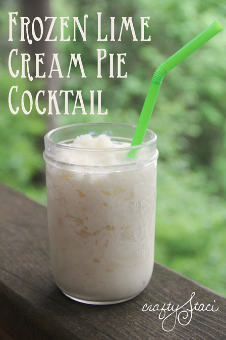 Frozen Lime Cream Pie Cocktail from Crafty Staci