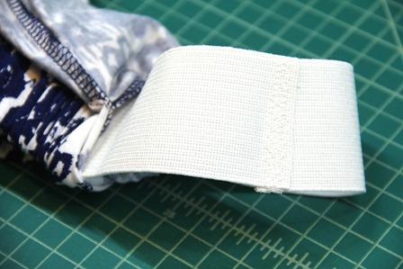 Adding elastic to skirt