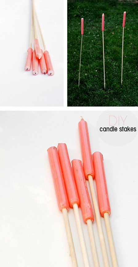 Easy Outdoor Candle Stakes from A Subtle Revelry