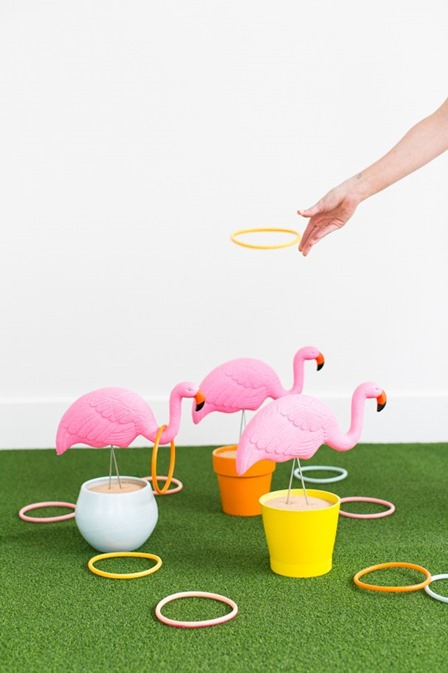 Flamingo Ring Toss Yard Game from Sugar and Cloth