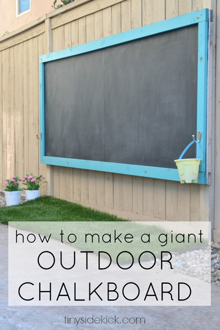 Giant Outdoor Chalkboard from Hey There Home