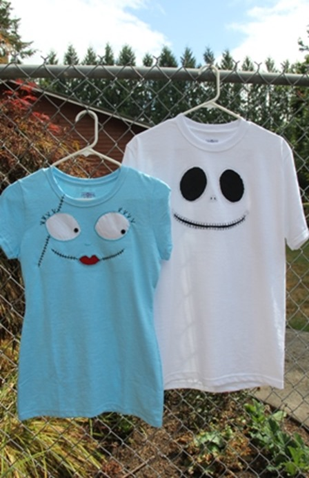Jack and Sally Reverse Applique T-Shirts