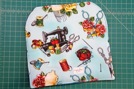 Sewing Machine Hot Pad back