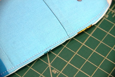 Topstitch around edge