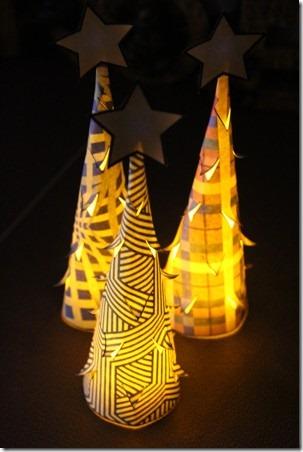 Illuminated Paper Trees 1