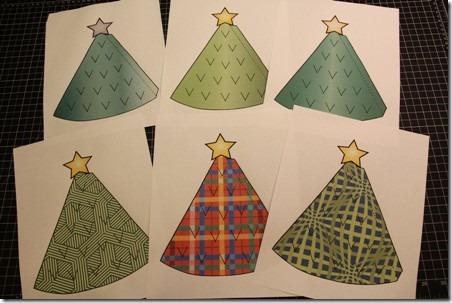 Illuminated Paper Trees 2