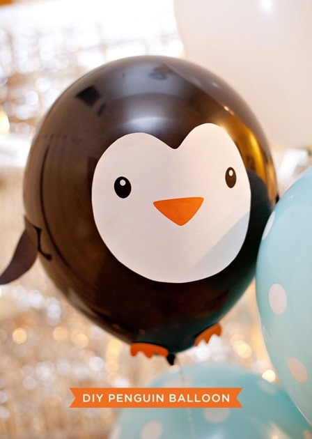 Penguin Balloon from Hostess with the Mostess