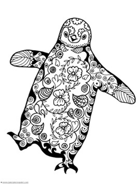 Penguin Coloring Pages from 1 1 1=1