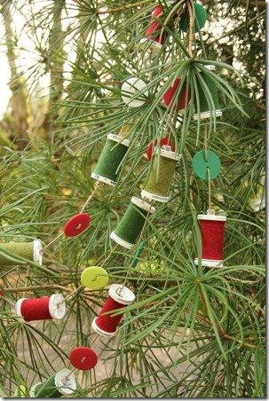 Thread Spool and Button Garland 11
