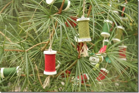 Thread Spool and Button Garland 16