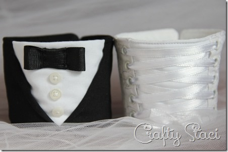 Bride and Groom Coffee Cup Sleeves - Crafty Staci 1