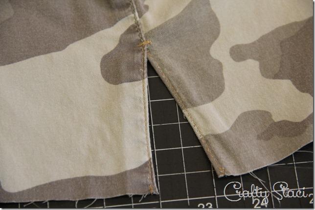 Adding a Side Slit to Shorts - Crafty Staci 10