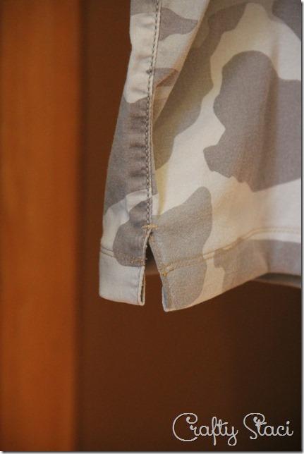 Adding a Side Slit to Shorts - Crafty Staci 11