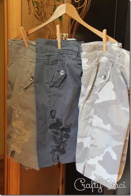 Adding a Side Slit to Shorts - Crafty Staci 1