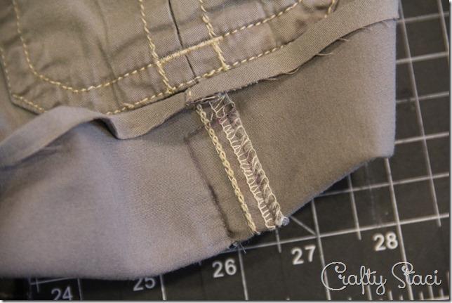 Adding a Side Slit to Shorts - Crafty Staci 3
