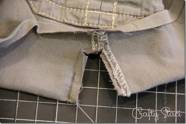 Adding a Side Slit to Shorts - Crafty Staci 4
